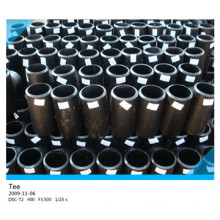 Black Steel CS Pipe Fittings Straight Tee