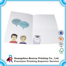 Desenhos de pasta de papel artesanal A4