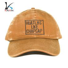 En gros pas cher vieux style usé 6 panneau court bord haute qualité rondelle baseball casquette dur chapeaux