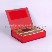 Custom paper gift packaging box cardboard with book type