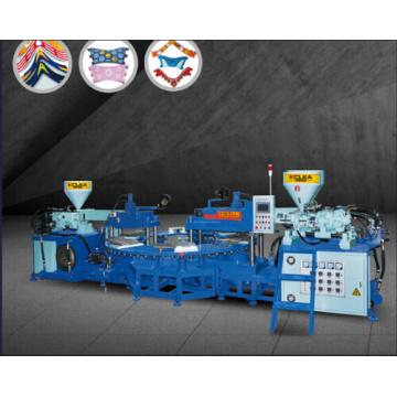 Máquina de moldeo superior de PVC / TPR de tres colores