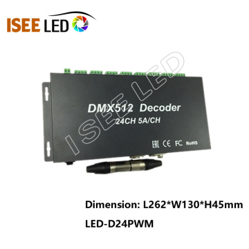 Decodificador de interface DMX de 24 canais de alta potência
