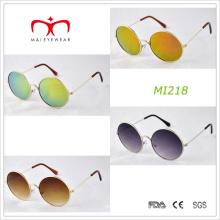 Retro-Design und runde Rahmen-Metall-Sonnenbrille (MI218)