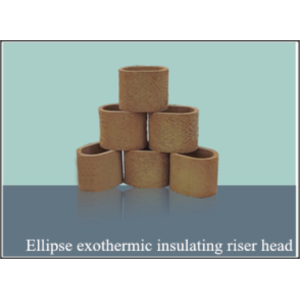 Insulating Ellipe riser head  exothermic