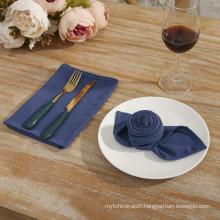 Soft Solid Color Linen Cotton Dinner Cloth Napkins Set of 12 (40 x 40 cm) Washable