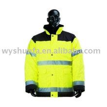 Безопасность и прозрачность Предупреждение Светоотражающая куртка
