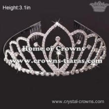 3in Height Rhinestone Queen Tiaras With Crystal