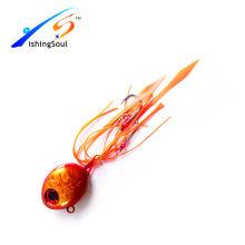 RJL016 barato isca de pesca isca de chumbo gabarito de metal jig jigging iscas de borracha