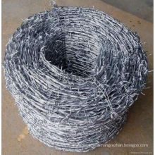 Hot sale galvanized/plastic coated barbed wire fence(profassional manufacture)