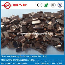 Tungsten Contact Tip W55cu45 with ISO 9001 From Zhuzhou Jiabang