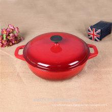 cast iron enameled non stick big size casserole