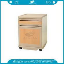 AG-BC008 facile nettoyer mobile ABS instrument patient chambre hôpital bois couleur à côté du cabinet