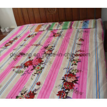 Twill Weaving High Quality 100% Cotton Printed Flat Bed Sheet