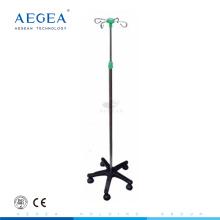 La altura económica del AG-IVP003 CE ISO ajusta el soporte de infusión de aluminio móvil de la sala de hospital