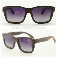 Gafas de sol modernas de madera, gafas de sol New Style de madera con estuche