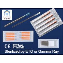 Copper, Silver, Steel Handle Acupuncture Needles CE FDA GMP Standard