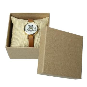 Brown watch paper box with pillow