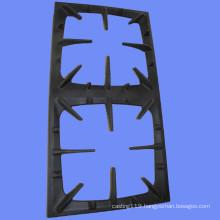 2 burners cast iron enameled gas hob