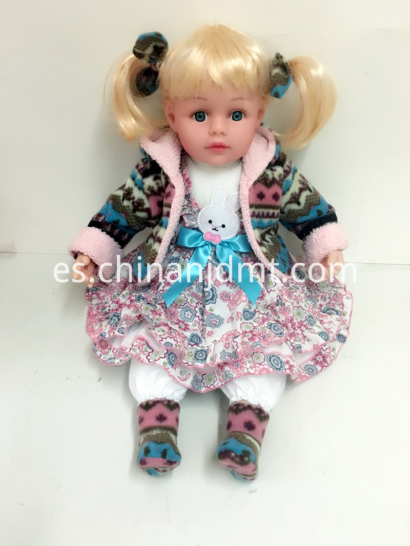 Blond Hair Vinyl Doll