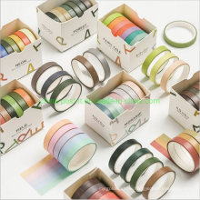 Rual Color Series Washi Tape for DIY Hand Book