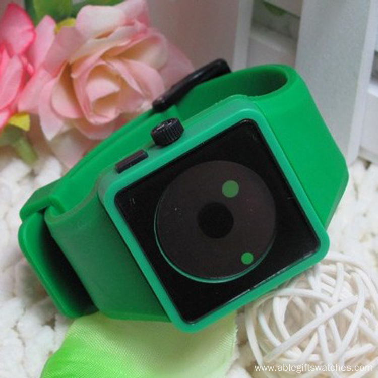 New Design Kids Lovely Silicone Smile Watch