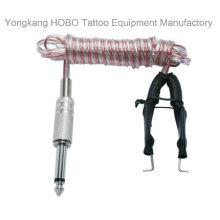 Calidad superior silicona tatuaje fuente Clip cable suave las fuentes de alimentación