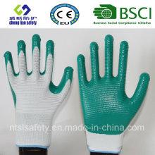13G Polyester Shell mit Nitril beschichteten Arbeitshandschuhen (SL-N113)