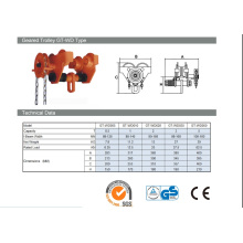 Hot Selling Factory Price Manual 5 Ton Gear Trolley