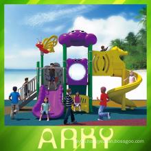 Terrific animal world theme outdoor plastic slide