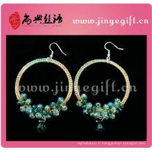 Bijoux à la mode Délicat Artisanat en étain à la main Crochet Jewelleries Boucles d'oreilles