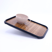1/2 Altas Tray with non-slip with wood texture surface