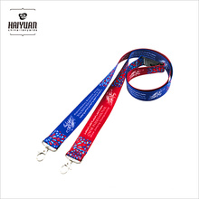 Custom Walking Polyeste 2.0*90cm Lanyards for American Lanyards Comedy Button