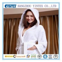 Women′s Microfiber Fleece Bathrobe