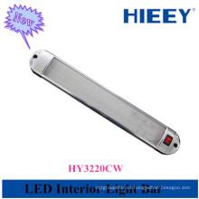 La alta calidad llevó la lámpara interior del vehículo para el uso del carro marco cromado llevó la luz interior
