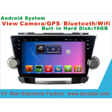 Android System Car DVD GPS Player for Highlander 9 Inch Touch Screen with Bluetooth/MP4