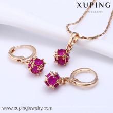 61203-Xuping мода женщина ювелирные изделия набор с 18k позолоченный