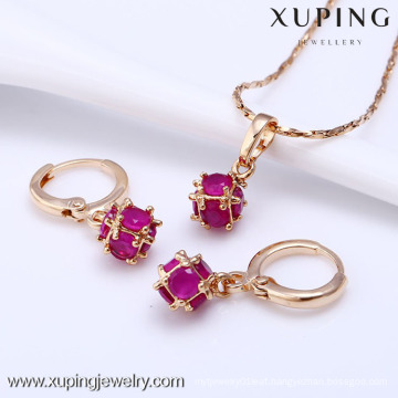 61203-Xuping Fashion Woman Jewlery Set with 18K Gold Plated