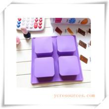 Molde de silicón ovalado de 16 cavidades para jabón, pastel, magdalenas, brownie y más (HA36015)