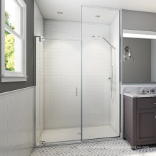 Seawin Waterproof Pivot Black hardware bathroom swing Shower Door