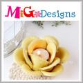 Suporte de vela de cerâmica flor de lótus para iluminação