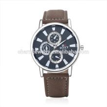 Ретро роскошь Vogue кварцевые популярные кожаный ремешок наручные часы SOXY048