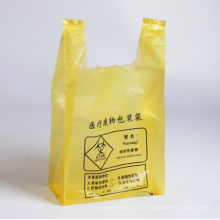 One-time-use medical waste vest handle bag