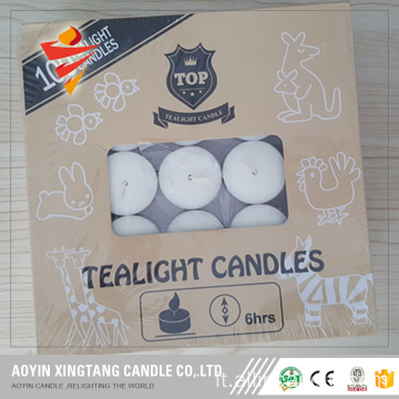 Candela Tealight bianca a lunga combustione