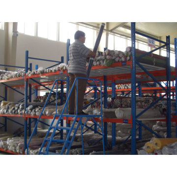 Warehouse Steel Safety Portable Rolling Mobile Work Platform Ladder with Handrails