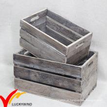 Vintage antigo handmade rústico velho reciclado madeira frutas caixas para venda