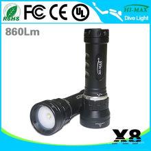 Multifunktions-Weitwinkel 120 Grad Tauchen LED-Taschenlampe