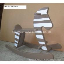 Fábrica de balanço Rocking Horse-madeira Rocker com Stripe