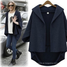 Fashion Casual lose Bat-Like Ärmel Frauen Jacke Oberbekleidung (50009)