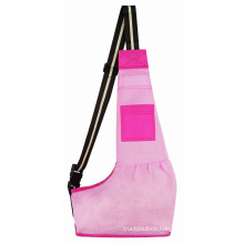 Cross-border new product cat and dog soft bag pets travel pink breathable mesh crossbody pet backpack
