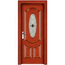 portas de vidro de madeira